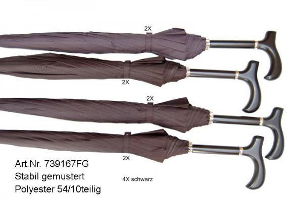 doppler Regenschirm Stabil - Herren gemustert