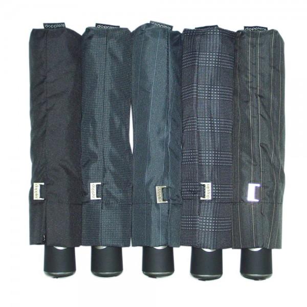 doppler Regenschirm Clip Carbon Automatik - Herren gemustert